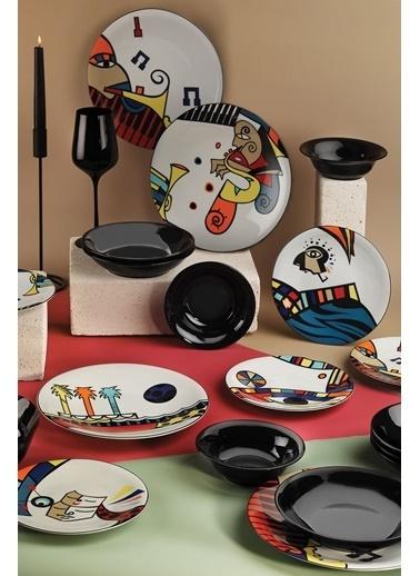 Kütahya Porselen Kütahya Porselen Free Time 24 Parça Yemek Seti Renkli